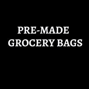 PRE-MADE GROCERY BAGS - use the code FORTYOFF for 40% off all items
