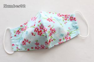 MED ADULT SIZE – PREMADE 2 LAYER COTTON FACE COVER – BIRDY COTTON