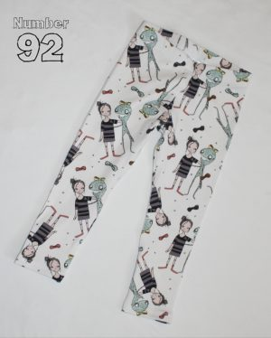 SIZE 1 LEGGINGS – PRE-MADE ALIEN FRIEND COTTON LYCRA
