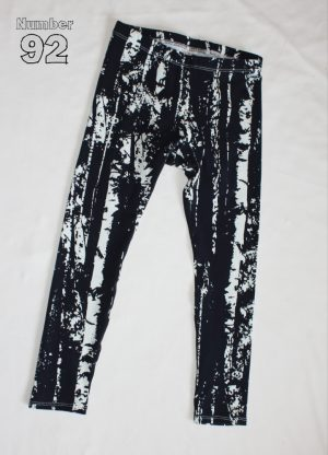 SIZE 6 LEGGINGS – PRE-MADE NAVY WOODLANDS COTTON LYCRA