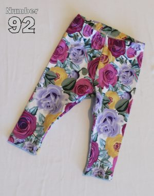 SIZE 000 BABY LEGGINGS – PRE-MADE FLORAL COTTON LYCRA