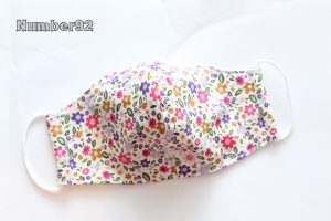 SMALL YOUTH SIZE – PREMADE 2 LAYER COTTON FACE COVER – TINY FLORAL COTTON
