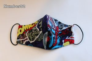 LGE ADULT SIZE – PREMADE 2 LAYER COTTON FACE COVER – AVENGERS COTTON