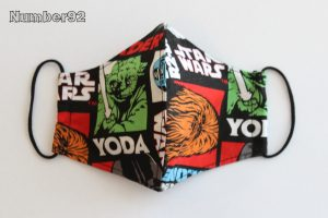SMALL YOUTH SIZE – PREMADE 2 LAYER COTTON FACE COVER – STAR WARS COTTON
